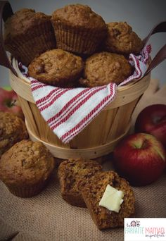 Muffins with autumn flavors - snacks Muffins Sains, Saveur, Desert Recipes, Muffin Recipes, Sweet Recipes, Biscuits, Sweet Treats, Deserts, Brunch