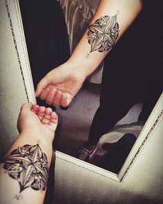 #mandala#compass#tattoo#arm