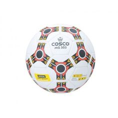 Product Description  The Cosco M.G. 303 Football Cosflex material top cover for good overall performance.  Features  Synthetic Hand Sewn Ball.  Cosflex material top cover for good overall  performance.  High shape retention  Fitted with latex bladder.