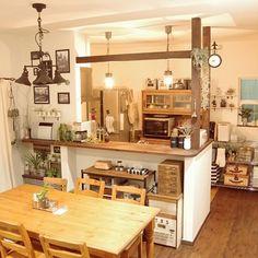 Boho Kitchen, Kitchen Nook, Country Kitchen, Studio Interior, Interior Design Kitchen, Interior Decorating, Peninsula Kitchen Design, Cottage Style Decor, Kitchen Collection