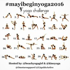 A new yoga challenge starts May 1st! It also marks my one year anniversary of daily yoga practice! I've practiced yoga for years, but not consistently until last May. I'm truly a…