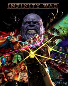 Infinity War comic style Poster