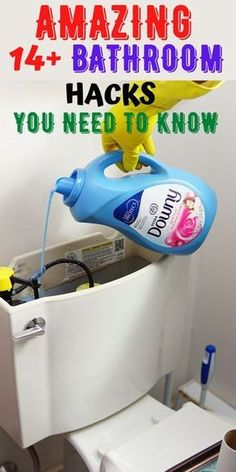 Diy Home Cleaning, Bathroom Cleaning Hacks, Homemade Cleaning Products, Household Cleaning Tips, Cleaning Recipes, House Cleaning Tips, Bathroom Organization, Bathroom Ideas, Bathroom Interior