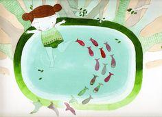 lil girl in pool