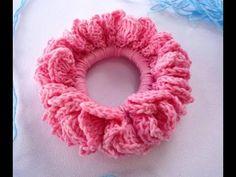 كروشيه توكه للشعر / رابطة شعر/ سهله جدا للمبتدئين Crochet Hair Scrunchie - YouTube