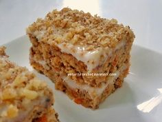 yetur flavor squares: walnut-carrot wet cake - kuchenrezepte home Summer Desserts, No Bake Desserts, Dessert Recipes, Italian Meat Dishes, Good Food, Yummy Food, Lemon Recipes, Turkish Recipes, Saveur