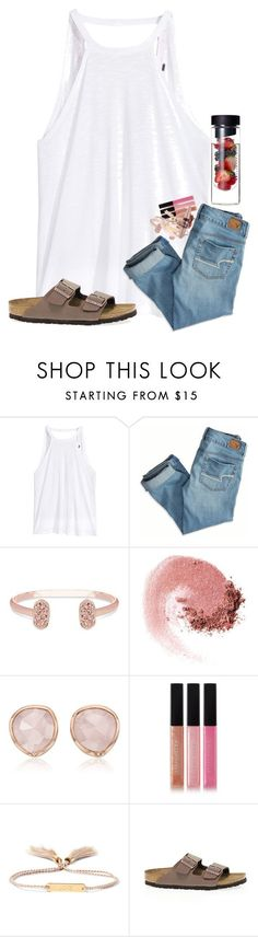 """I want spring!! "" by ab1525 ❤ liked on Polyvore featuring American Eagle Outfitters, Kendra Scott, NARS Cosmetics, Monica Vinader, Bobbi Brown Cosmetics, Chloé, Maybelline and Birkenstock"
