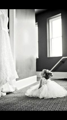 This picture of the flower girl is perfect