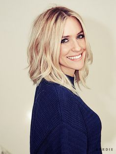 Kristin Cavallari rocks a bright blonde bob with loose waves.