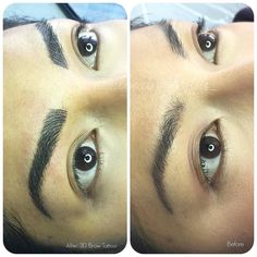 I'm so honored that miss universe Canada 2013 trusted me with her eyebrows! In the before picture is an example of migration. When the hairs are tattooed too closely they migrate into a solid tattoo after. (Before is done by another technician) Check out her brows in action on the Social! http://j.mp/1TfBNzI #eyebrows #browtattoo #3deyebrows #3dbrows #eyebrowfeathering #eyebrowembroidery #browgame #tattoo #pmu #spmu #cosmetictattoo #yyc #nomakeup #beauty #calgarytattoo #vancouver #toronto...