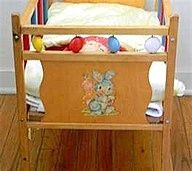 Details About Vintage Wood Baby Doll Crib Drop Side