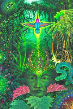 Lotus Vine Journeys offers powerful, Best Ayahuasca Retreat Peru where our guests can experience the healing powers of Ayahuasca, Yoga & Buddhist based meditation. Psychedelic Art, Fantasy Kunst, Fantasy Art, Vision Art, Psy Art, Nature Illustration, Hippie Art, Art Graphique, Encaustic Art