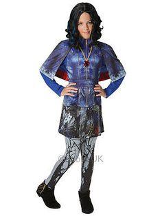 921b0eafd Child Disney Descendants Evie Deluxe Fancy Dress Costume Isle Of The Lost  Girls