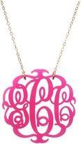 Charm & Chain-moon and lola acrylic script monogram necklace
