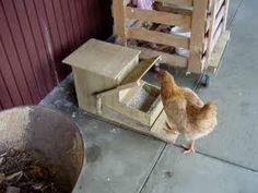 DIY Automatic Chicken treadle feeder. Link to instructions: www.backyardchick...
