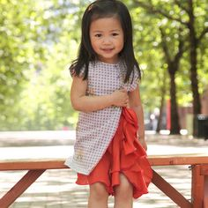 cute ruffled girls dress