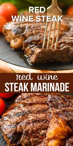 Then you will love this quick and easy Red Wine Steak Marinade that infuses steaks with a hint of red wine flavor and makes them so tender and juicy. If you are looking for a new twist on a steak marinade this is it! Marinade Für Steaks, Steak Marinade Recipes, Grilled Steak Recipes, Sirloin Steak Marinades, Steak Tenderizer Marinade, Marinade For Skirt Steak, Best Marinade For Steak, How To Marinate Steak, Steak Marinade Red Wine