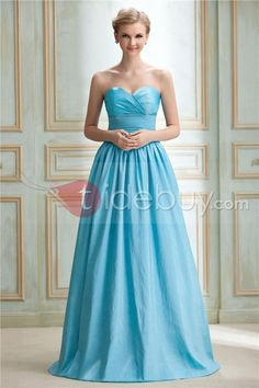 Attractive Tiered A-Line Sweetheart Neckline Floor-Length Yana's Bridesmaid Dress