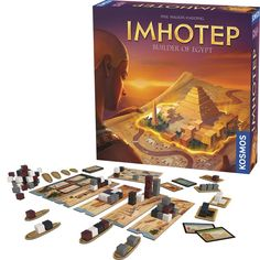 You must get your stone blocks to the right places, in the right order, at the right time to be the greatest ancient Egyptian architect as you play this Kosmos' bestselling Imhotep strategy game.