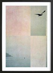 Fly Away - Premium Poster gerahmt
