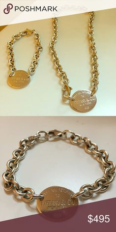 Tiffany & Co. Necklace and bracelet! Beautiful authentic necklace and bracelet from Tiffany & Co. Sterling silver 925. Very good condition. Tiffany & Co. Jewelry Necklaces