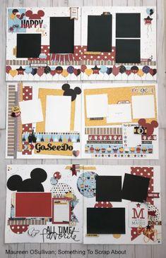 Disney Scrapbook Pages, 12x12 Scrapbook, Travel Scrapbook, Scrapbook Paper Crafts, Scrapbook Albums, Scrapbook Patterns, Scrapbook Layout Sketches, Scrapbook Templates, Scrapbooking Layouts