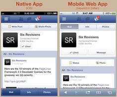 Native App vs. Mobile Web App: A Quick Comparison, Jul 11, 2012 http://sixrevisions.com/mobile/native-app-vs-mobile-web-app-comparison/#