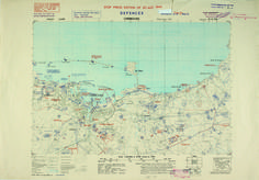 From 1944, a D-Day map of Cherbourg.