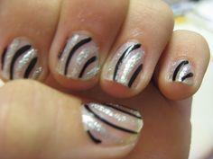 easy nail design for short nails.
