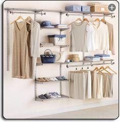 Closet Organizers And Organization System Ideas- Rubbermaid Configurations Custom Closet Organizing Kit - Closet Shelves, Closet Storage, Storage Rack, Bedroom Shelving, Wardrobe Storage, Bedroom Storage, Closet Bedroom, Closet Space, Master Bedroom