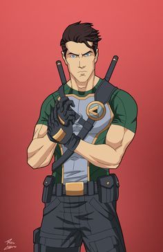 Agent 37 commission by phil-cho on DeviantArt --- Dick Grayson Superhero Characters, Dc Comics Characters, Dc Comics Art, Anime Comics, Comic Character, Character Concept, Character Design, Superhero Design, Super Hero Costumes
