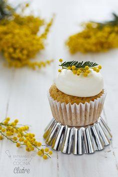 Cupcakes para 6 con Cobertura de queso con miel