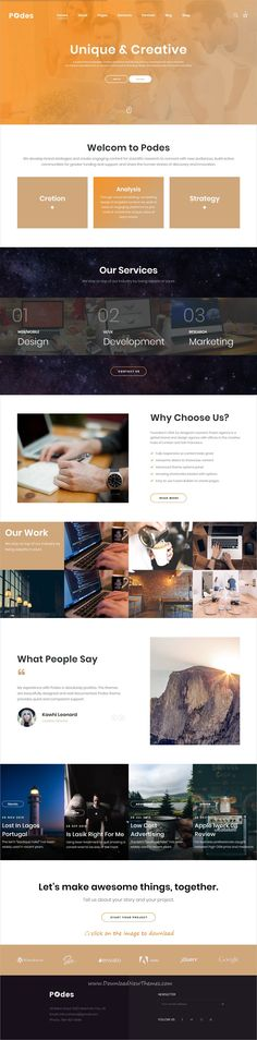Podes is clean and modern design responsive bootstrap template for #business #agency website with 25+ multipurpose niche homepage layouts to download click on image.