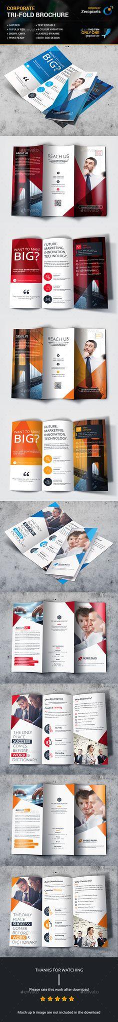Trifold Brochure Templates PSD Bundle
