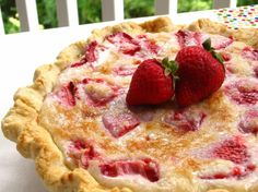 Strawberry Sour Cream Pie