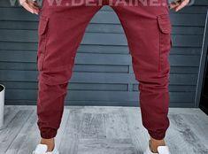 Pantaloni barbati grena casual B1304 D4-4