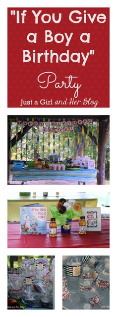 "Awesome kids' birthday party based on the ""If You Give..."" books! (If You Give a Mouse a Cookie, etc.) 
