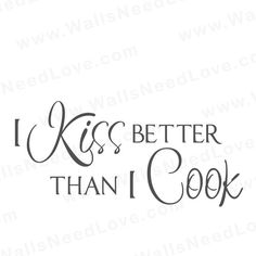 Wall Decals | Wall Stickers | Walls Need Love Vinyl Art | Kitchen Wall Decal | 18b