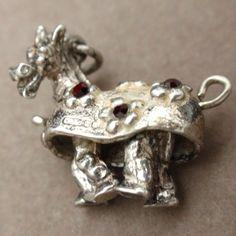 Pantomime Horse Charm Vintage Sterling Silver Rhinestones Legs Move | eBay