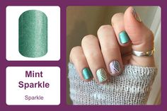 'Mint Sparkle' combines a clean and fresh look with just the right amount of sparkle, making this wrap perfect for anytime wear. #bevsjamminnails https://bkimball.jamberry.com/us/en/shop/products/mint-sparkle#.Vxe_qvkrJQI
