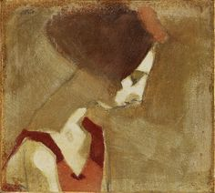 Schjerfbeck, Helene (1862-1946) - Girl with a Swan Neck (Bukowski's Auction Stockholm, 2010)