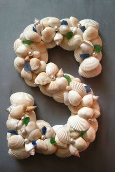 Shells with sea glass
