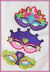 Princess Mask Set, In The Hoop - 3 Sizes! | In the Hoop | Machine Embroidery Designs | SWAKembroidery.com