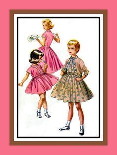 Vintage 1957 Fab Fifties Girls Dress and by FarfallaDesignStudio, $6.00