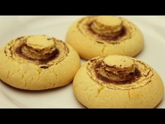 Turkish Mushroom Shaped Cookies with Starch and Cocoa