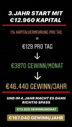 In den nächsten 3 Posts zeige ich dir was mit nur 1000€ Startkapital in 3 Jahren möglich ist. 🤙 🤑 3 Years, Make It Happen