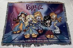 Bratz Woven Tapestry Throw Blanket Wall Hanging Girls Passion Fashion USA Made…