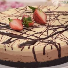 If you are a lover of country and chocolate . prepare this recipe Three cold chocolate cheesecake, a homemade dessert that your family will love. Mango Desserts, Köstliche Desserts, Homemade Desserts, Delicious Desserts, Yummy Food, Cakes That Look Like Food, Chocolate Cheesecake, Turtle Cheesecake, Cheesecake Bites