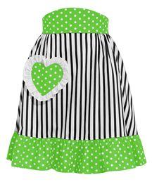 I love stripes and polka dots together.
