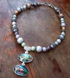 By the Sea Necklace with Stunning Abalone Pendant